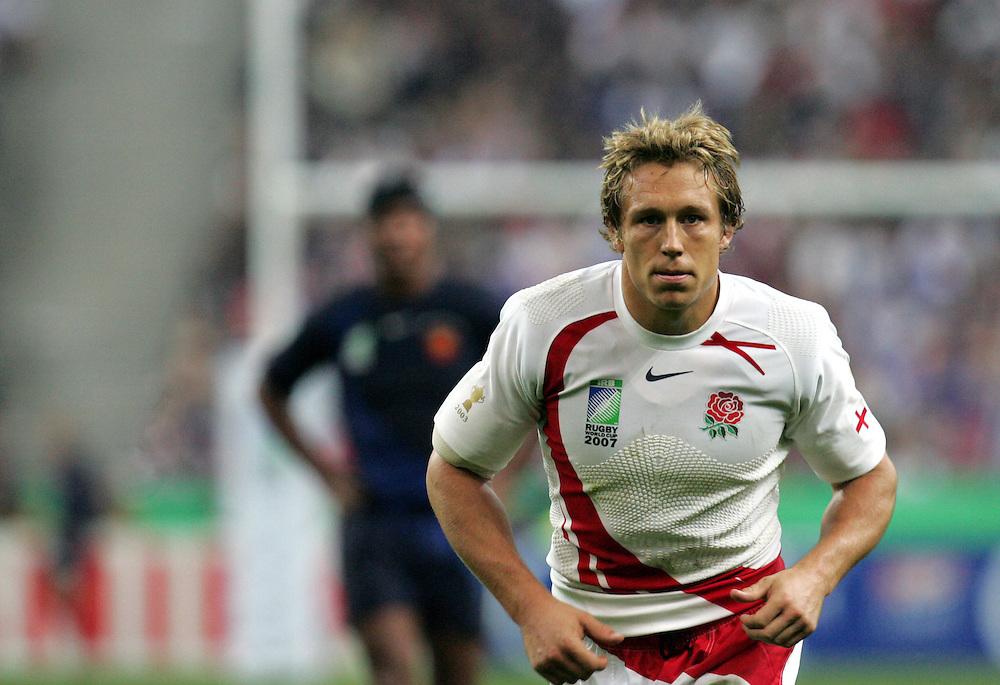 England World Cup hero Jonny Wilkinson. England v France, Rugby World Cup 2007.