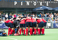 AMSTELVEEN -  team huddle Nijmegen   Play Outs Hockey hoofdklasse. Pinoke-Nijmegen (1-1) . Pinoke wint de shoot outs en blijft in de hoofdklasse. COPYRIGHT KOEN SUYK