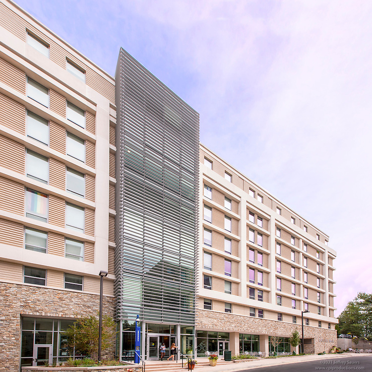 Exterior image of  Cassell Hall at  American University in Washington DC by Jeffrey Sauers of Commercial Photographics
