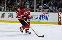 Mar 30, 2007; East Rutherford, NJ, USA; New Jersey Devils center Patrik Elias (26) skates during the second period at Continental Airlines Arena in East Rutherford, NJ.