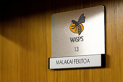Malakai Fekitoa of Wasps place in the changing room - Mandatory by-line: Robbie Stephenson/JMP - 12/10/2019 - RUGBY - Ricoh Arena - Coventry, England - Wasps v Worcester Warriors - Premiership Rugby Cup