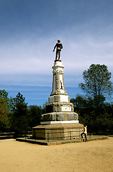 California: Gold Country.  James Marshall statue at Coloma Gold Discovery site..Photo copyright Lee Foster, 510/549-2202, lee@fostertravel.com, www.fostertravel.com..Photo #: cagold103