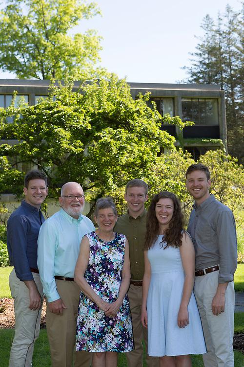 Lucas Family Portrait, Mount Holyoke College, South Hadley, MA, 5/21/18.