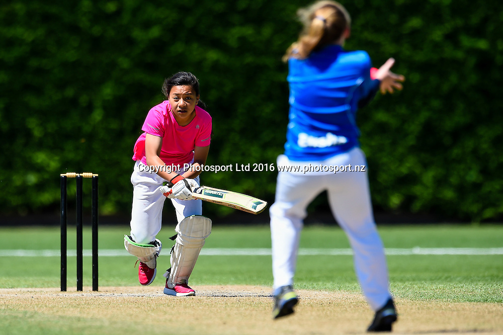 Action during the Viscount School V Weston Primary School cricket match at the National Cricket Primary School Shield, Bert Sutcliffe Oval, Lincoln, New Zealand, 26th November 2016. © Copyright Photo: John Davidson / www.photosport.nz