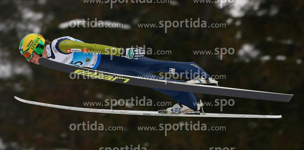 13.02.2013, Vogtland Arena, Kingenthal, GER, FIS Ski Sprung Weltcup, im Bild Sieger Jaka Hvala, Slowenien // during the FIS Skijumping Worldcup at the Vogtland Arena, Kingenthal, Germany on 2013/02/13. EXPA Pictures © 2013, PhotoCredit: EXPA/ Eibner/ Ingo Jensen..***** ATTENTION - OUT OF GER *****