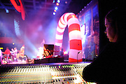 A view from side stage at the Pageant during the Ludo Christmas show on December 10, 2011.