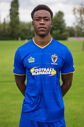 Jayden Antwi during the AFC Wimbledon Photocall 2017 at the Kings Sports Ground, New Malden, United Kingdom on 1 August 2017. Photo by Shane Healey.