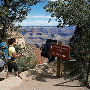 The Grand Canyon, a UNESCO World Heritage Site, is located entirely in northern Arizona and is one of the great tourist attractions in the United States. It borders of two Indian reservations: the Havasupai Indian Reservation and the Hualapai Indian Reservation. The Grand Canyon is a massive canyon carved over several million years by the Colorado River.  MR PR<br /> Photography by Jose More