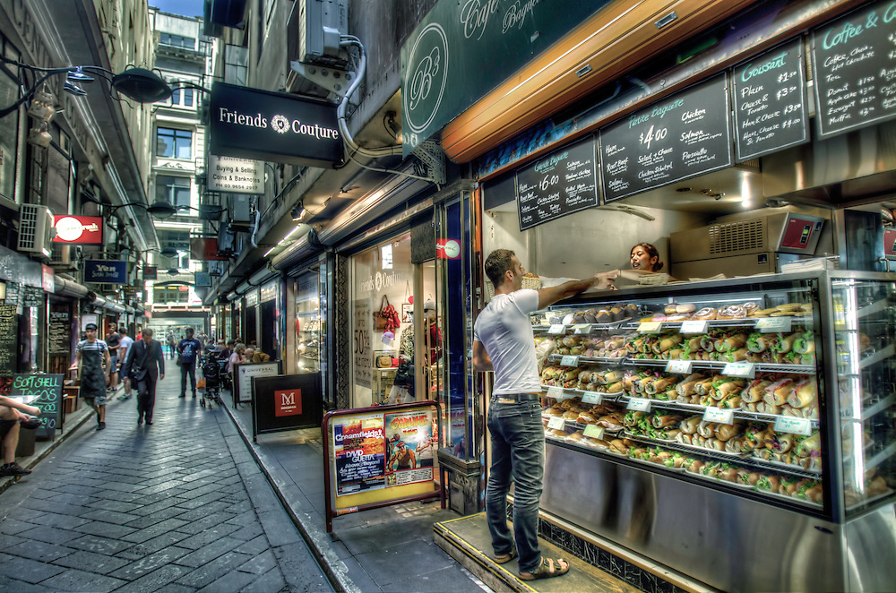 Modern Melbourne. Cafe et Patissierie, at Centre Place. Pic By Craig Sillitoe CSZ/The Sunday Age.20/03/2012  Pic By Craig Sillitoe CSZ / The Sunday Age This photograph can be used for non commercial uses with attribution. Credit: Craig Sillitoe Photography / http://www.csillitoe.com<br />
