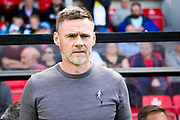 Salford City manager Graham Alexander during the EFL Sky Bet League 2 match between Salford City and Port Vale at Moor Lane, Salford, United Kingdom on 17 August 2019.