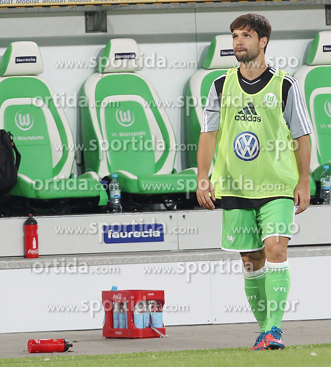 04.08.2012, Volkswagen Arena, Wolfsburg, GER, Testspiel, VfL Wolfsburg vs Manchester City, im Bild Diego (VfL Wolfsburg) beim Aufwvßrmen // during Friendly Match between VfL Wolfsburg and Manchester City at the Volkswagen Arena, Wolfsburg, Germany on 2012/08/04. EXPA Pictures © 2012, PhotoCredit: EXPA/ Eibner/ Susanne Huebner..***** ATTENTION - OUT OF GER *****