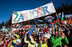 Fans of Zan Kosir (SLO) during Parallel Giant Slalom at FIS Snowboard World Cup Rogla 2017, on January 28, 2017 at Course Jasa, Rogla, Slovenia. Photo by Vid Ponikvar / Sportida