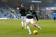 Queens Park Rangers defender Jake Bidwell (3) warming up before the EFL Sky Bet Championship match between Queens Park Rangers and Preston North End at the Loftus Road Stadium, London, England on 19 January 2019.
