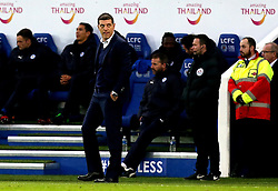 West Ham United manager Slaven Bilic looks frustrated during the defeat to Leicester City - Mandatory by-line: Robbie Stephenson/JMP - 31/12/2016 - FOOTBALL - King Power Stadium - Leicester, England - Leicester City v West Ham United - Premier League
