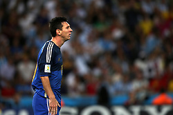 13.07.2014, Maracana, Rio de Janeiro, BRA, FIFA WM, Deutschland vs Argentinien, Finale, im Bild Lionel Messi (ARG) ratlos // during Final match between Germany and Argentina of the FIFA Worldcup Brazil 2014 at the Maracana in Rio de Janeiro, Brazil on 2014/07/13. EXPA Pictures © 2014, PhotoCredit: EXPA/ Eibner-Pressefoto/ Cezaro<br /> <br /> *****ATTENTION - OUT of GER*****