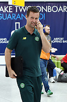 24/08/15 <br /> GLASGOW AIRPORT<br /> Celtic Manager Ronny Deila arrives at Glasgow Airport ahead of his side's UEFA Champions League 2nd Round Play-Off fixture against Malmo