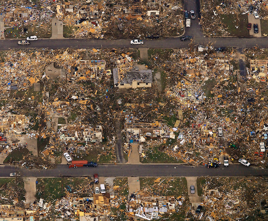 --05/24/11-- <br /> Much of Joplin, Missouri lays in rubble on May 24, 2011, one day after a tornado killed at least 116 people in the city. The tornado that ripped through the town of about 50,000 people May 22, is being called the deadliest single tornado in the U.S. in 60 years.