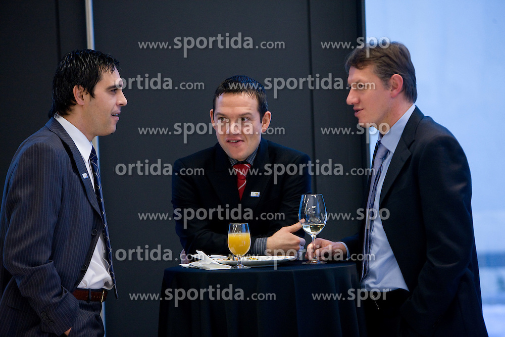 Nenad Protega and Igor Benedejcic at New Year's  party of Slovenian football federation, on December 22, 2009, in Center Brdo, Slovenia. (Photo by Vid Ponikvar / Sportida)
