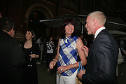 JANET STREET-PORTER AND DAMIEN WHITEMORE, V and A celebrates 150th anniversary. V and A. London. 26 June 2007.  -DO NOT ARCHIVE-© Copyright Photograph by Dafydd Jones. 248 Clapham Rd. London SW9 0PZ. Tel 0207 820 0771. www.dafjones.com.