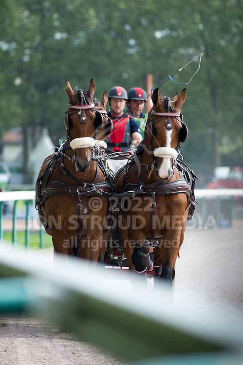 Chester Weber, (USA), Boris W, Boy W, Para, Splash, Uniek - Driving Marathon - Alltech FEI World Equestrian Games&trade; 2014 - Normandy, France.<br /> &copy; Hippo Foto Team - Becky Stroud<br /> 06/09/2014