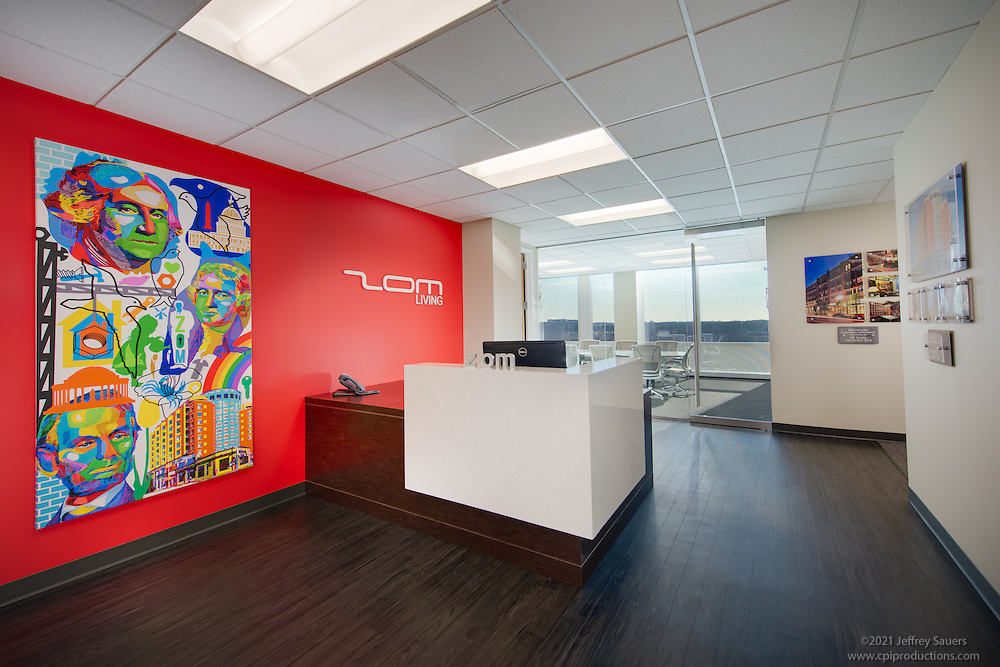 McLean VA Office interior image of ZOM offices by Jeffrey Sauers of Commercial Photographics, Architectural Photo Artistry in Washington DC, Virginia to Florida and PA to New England