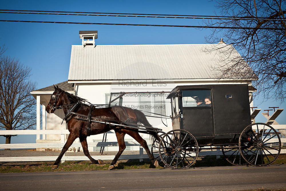 Amish horse and buggy in Gordonville, PA.
