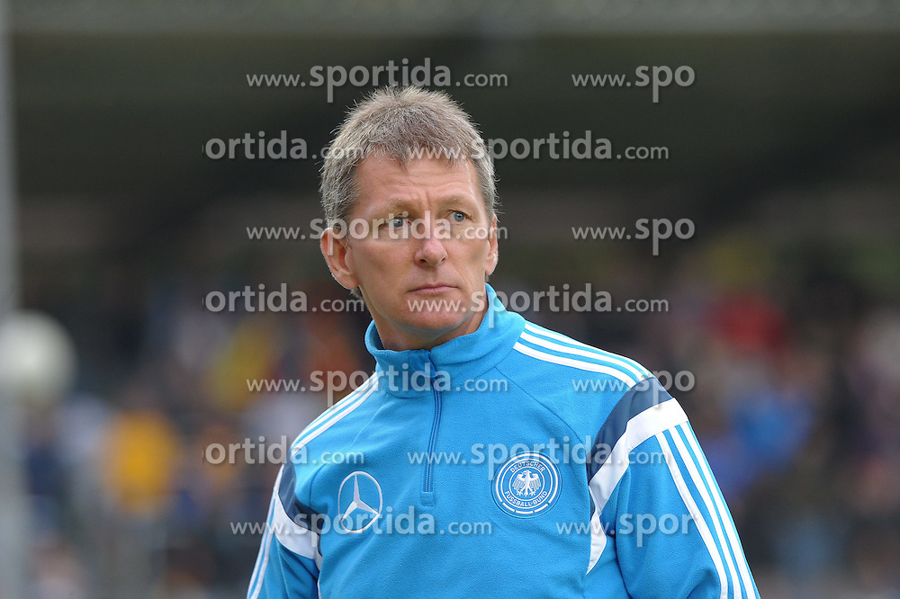 03.09.2014, Waldstadion Kaiserlinde, Spiesen-Elversberg, GER, FS Vorbereitung, U20 Fussball Testspiel, Deutschland vs Italien, im Bild Frank Wormuth, Trainer U 20 Deutschland, // during a international U20 football frindly between Germany and Italy at the Waldstadion Kaiserlinde in Spiesen-Elversberg, Germany on 2014/09/03. EXPA Pictures &copy; 2014, PhotoCredit: EXPA/ Eibner-Pressefoto/ spektrum<br /> <br /> *****ATTENTION - OUT of GER*****