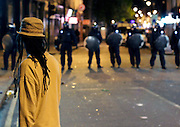 08.AUGUST.2011. LONDON<br /> <br /> UNREST IN BRIXTON FOLLOWING THE SHOOTING OF MARK DUGGEN BY THE POLICE IN TOTTENHAM.<br /> <br /> BYLINE: EDBIMAGEARCHIVE.COM/TIRAS PETERS<br /> <br /> *THIS IMAGE IS STRICTLY FOR UK NEWSPAPERS AND MAGAZINES ONLY*<br /> *FOR WORLD WIDE SALES AND WEB USE PLEASE CONTACT EDBIMAGEARCHIVE - 0208 954 5968*