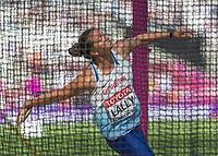 Athletics - 2017 IAAF London World Athletics Championships - Day Eight, Morning Session<br /> <br /> Discus Women - Qualification<br /> <br /> Jade Lally (Great Britain) in the throwing ring at the London Stadium<br /> <br /> COLORSPORT/DANIEL BEARHAM