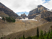 Looking south toward Lefroy Glacier, near Lake Louise, Banff National Park, Alberta, Canada