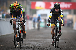 November 13, 2016 - Gavere, BELGIUM - Belgian Tomas Kopecky and Belgian Andreas Goeman crosse the finish line at the 4th stage (out of 8) of the Superprestige cyclocross cycling competition in the juniors category, in Asper-Gavere, Sunday 13 November 2016. BELGA PHOTO DAVID STOCKMAN (Credit Image: © David Stockman/Belga via ZUMA Press)