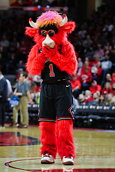 NORMAL, IL - February 02: Benny the Bull provides some entertainment during a college basketball game between the ISU Redbirds and the University of Loyola Chicago Ramblers on February 02 2019 at Redbird Arena in Normal, IL. (Photo by Alan Look)
