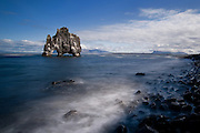 Long exposure on Hvitserkur in northwest Iceland.