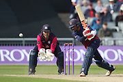 Lancashires Haseeb Hameed during the Royal London 1 Day Cup match between Lancashire County Cricket Club and Northamptonshire County Cricket Club at the Emirates, Old Trafford, Manchester, United Kingdom on 24 April 2019.