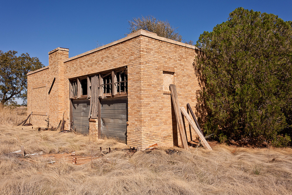 The former Mungerville school sits abandoned in the middle of Nortwest Texas farmland.