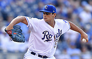 June 30, 2017 - Kansas City, MO, USA - Kansas City Royals starting pitcher Jason Vargas throws against the Minnesota Twins at Kauffman Stadium in Kansas City, Mo., on Friday, June 30, 2017. (Credit Image: © John Sleezer/TNS via ZUMA Wire)