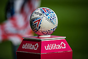 The match ball before the EFL Sky Bet League 1 match between Rotherham United and Bolton Wanderers at the AESSEAL New York Stadium, Rotherham, England on 14 September 2019.