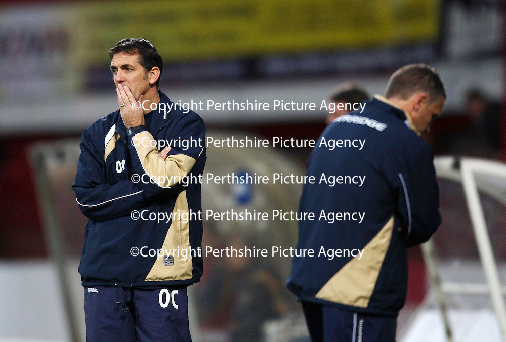 Dundee v St Johnstone....03.11.07<br /> A dejected Owen Coyle<br /> Picture by Graeme Hart.<br /> Copyright Perthshire Picture Agency<br /> Tel: 01738 623350  Mobile: 07990 594431