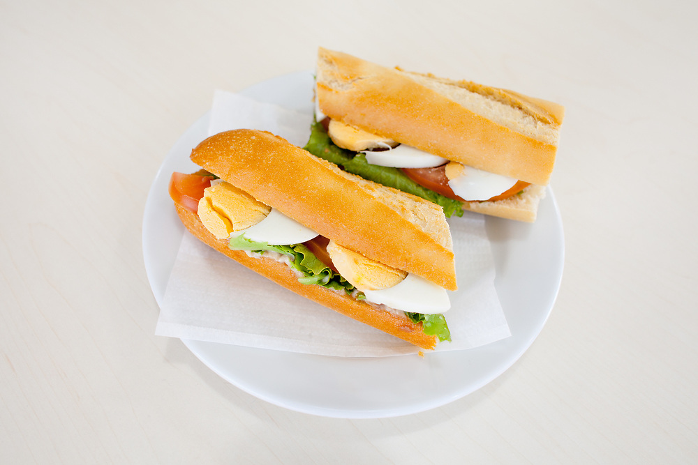Tuna and Egg Baguette at Minipreco Family Cafe outside Evora ($2.24) - OFF: Portugal (2EUR)