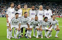 Real Madrid Team Group 2006/07.(Back Row L/R) Ruud van Nistelrooy / Alvaro Mejia / Iker Casillas / Emerson / Guti / Mahamadou Diarra.(Front Row L/R) Jose Antonio Reyes / Sergio Ramos / Roberto Carlos / Raul / Fabio Cannavaro.Real Madrid V Dynamo Kiev (5-1) 26/09/06 .UEFA Champions League.