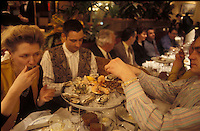 enjoying a Plateau Fruits de Mer (shellfish platter) at the Brasserie Wepler, PAris