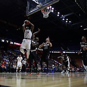 Christian Jones, St. John's, drives to the basket during the St. John's vs South Carolina Men's College Basketball game in the Hall of Fame Shootout Tournament at Mohegan Sun Arena, Uncasville, Connecticut, USA. 22nd December 2015. Photo Tim Clayton