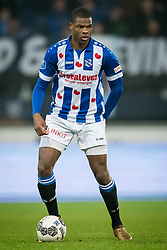 Denzel Dumfries of sc Heerenveen during the Dutch Eredivisie match between sc Heerenveen and Sparta Rotterdam at Abe Lenstra Stadium on January 26, 2018 in Heerenveen, The Netherlands