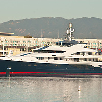 The Attessa IV, a 332-foot super yacht complete with helipad, is currently docked in the Marina Del Rey. The impressive luxury yacht is the 27th   largest in the world.<br /> <br /> It belongs to Dennis Washington, a Montana industrialist worth about $4.2 billion, good enough for 88th on the Forbes list of the 400 richest Americans in 2008.