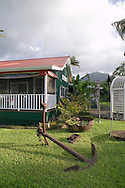 One of the charming Hawaiian style buildings in Hanalei, Kauai