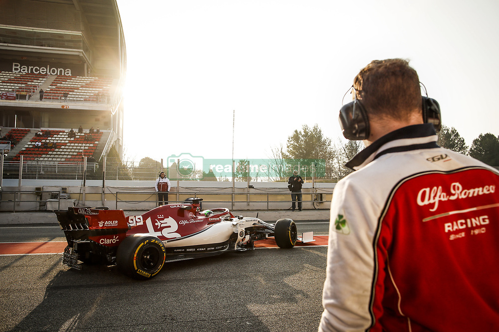 February 21, 2019 - Barcelona Barcelona, Espagne Spain - GIOVINAZZI Antonio (ita), Alfa Romeo Racing C38, in the pitlane during Formula 1 winter tests from February 18 to 21, 2019 at Barcelona, Spain - Photo  Motorsports: FIA Formula One World Championship 2019, Test in Barcelona, (Credit Image: © Hoch Zwei via ZUMA Wire)