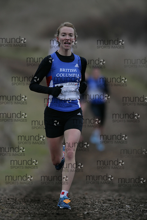 (Guelph, Ontario---28 November 2009) Laura Maludzinski of Pacific Athletics runs in the Senior Women's at the 2009 AGSI Cross Country Championships in Guelph, Ontario, November 28, 2009..Sean Burges/ Mundo Sport Images, 2009