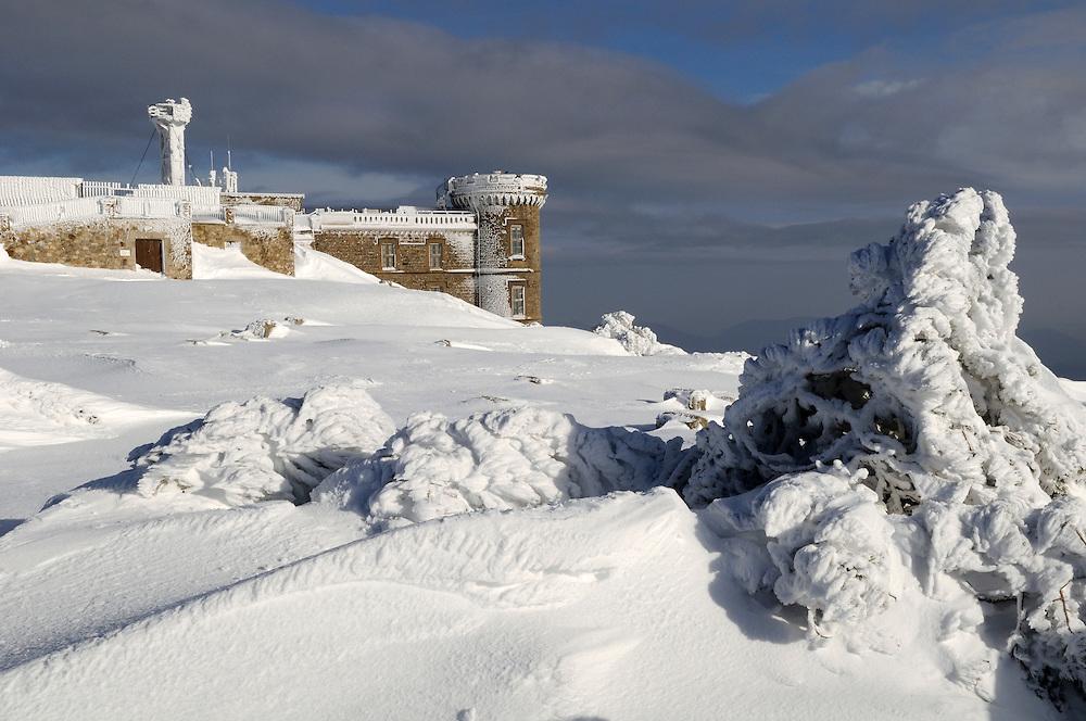 France, Languedoc Roussillon, Gard, Lozère, Cévennes, Mont Aigoual, l'observatoire