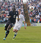 Christian Nade and Mark Russell - Greenock Morton v Dundee, SPFL Championship at Cappielow<br /> <br />  - &copy; David Young - www.davidyoungphoto.co.uk - email: davidyoungphoto@gmail.com