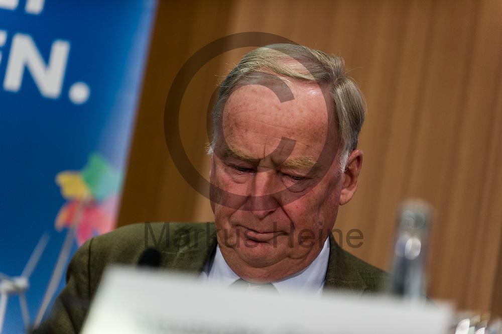 Deutschland, Berlin - 04.09.2017<br /> <br /> Der Spitzenkandidat der AfD Alexander Gauland spricht w&auml;hrend der Pressekonferenz. Die AfD (Alternative f&uuml;r Deutschland) stellt auf der Pressekonferenz unter dem Thema &quot;Irrweg beenden - Umwelt sch&uuml;tzen&quot; ihr Konzept f&uuml;r die Energiewende und Diesel vor.<br /> <br /> Germany, Berlin - 04.09.2017<br /> <br /> The top candidate of the AfD Alexander Gauland speaks during the press conference. The AfD (alternative for Germany) will be presenting its concept for the power generation and diesel engines at the press conference entitled &quot;Ending Irrigation - Protecting the Environment&quot;.<br /> <br />  Foto: Markus Heine<br /> <br /> ------------------------------<br /> <br /> Ver&ouml;ffentlichung nur mit Fotografennennung, sowie gegen Honorar und Belegexemplar.<br /> <br /> Bankverbindung:<br /> IBAN: DE65660908000004437497<br /> BIC CODE: GENODE61BBB<br /> Badische Beamten Bank Karlsruhe<br /> <br /> USt-IdNr: DE291853306<br /> <br /> Please note:<br /> All rights reserved! Don't publish without copyright!<br /> <br /> Stand: 09.2017<br /> <br /> ------------------------------
